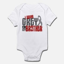 I Wear Grey For My Brother 6 Infant Bodysuit
