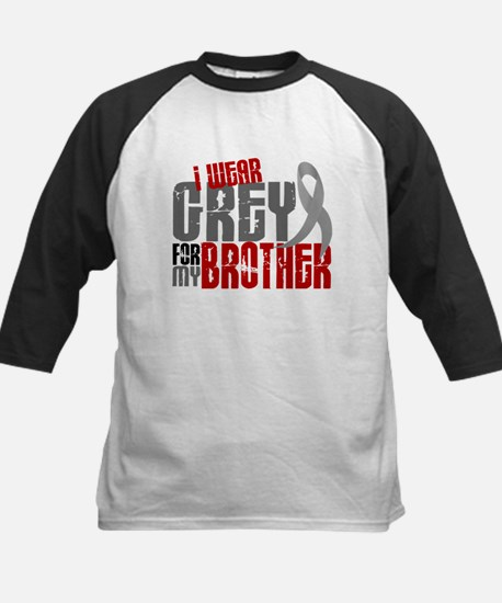 I Wear Grey For My Brother 6 Kids Baseball Jersey