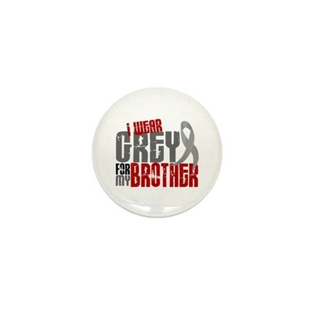 I Wear Grey For My Brother 6 Mini Button (10 pack)