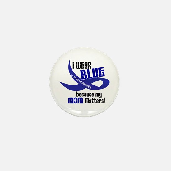 I Wear Blue For My Mom 33 CC Mini Button (10 pack)