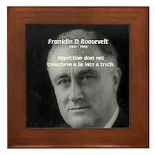 Franklin D. Roosevelt Framed Tile
