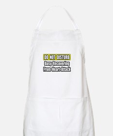 """Recovering...Heart Attack"" BBQ Apron"