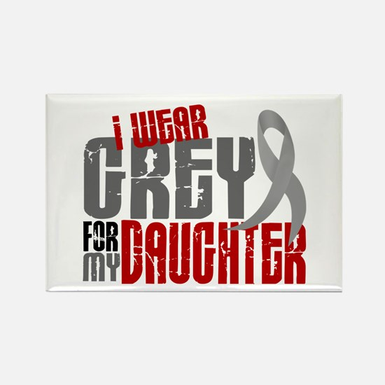 I Wear Grey For My Daughter 6 Rectangle Magnet