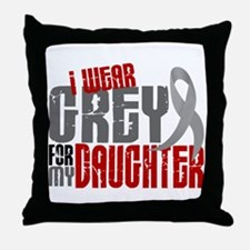 I Wear Grey For My Daughter 6 Throw Pillow