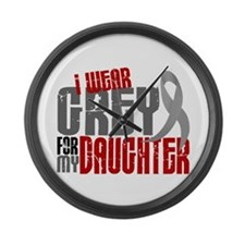 I Wear Grey For My Daughter 6 Large Wall Clock