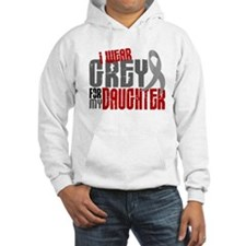 I Wear Grey For My Daughter 6 Hoodie