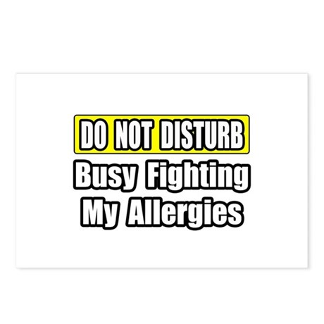 """""""Busy Fighting My Allergies"""" Postcards (Package of"""