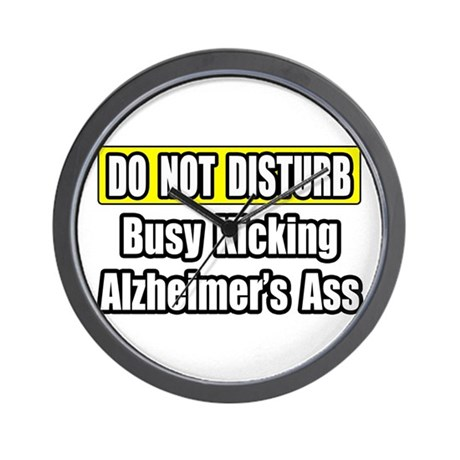 """Kicking Alzheimer's Ass"" Wall Clock"