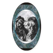 Scottish Deerhound Designer Oval Decal