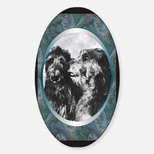 Scottish Deerhound Designer Oval Decal