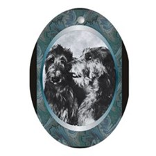 Scottish Deerhound Designer Oval Ornament