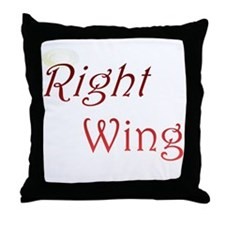 Right Wing Throw Pillow