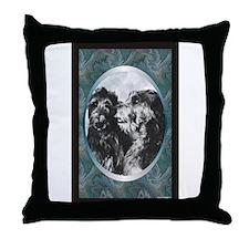 Scottish Deerhound Designer Throw Pillow