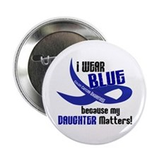 "I Wear Blue For My Daughter 33 CC 2.25"" Button"