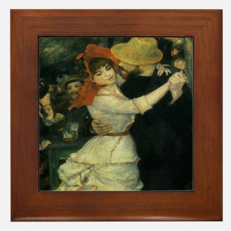 Dance at Bougival by Renoir Framed Tile