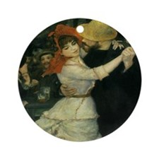 Dance at Bougival by Renoir Ornament (Round)