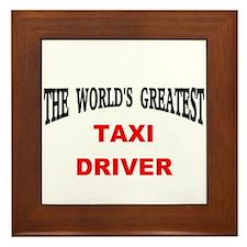 Cute Cab driver Framed Tile