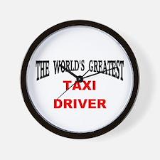 Unique Taxi driver Wall Clock
