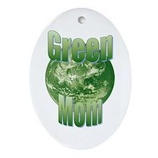 Green Mom Oval Ornament