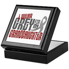 I Wear Grey For My Granddaughter 6 Keepsake Box