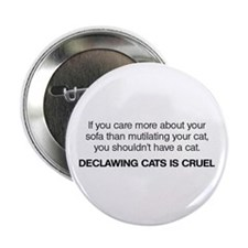 "No Declawing 2.25"" Button"