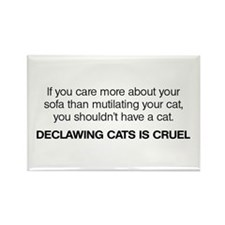 No Declawing Rectangle Magnet