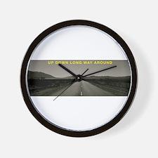 UPDOWNLONGWAYAROUND Wall Clock
