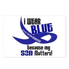 I Wear Blue For My Son 33 CC Postcards (Package of