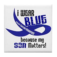 I Wear Blue For My Son 33 CC Tile Coaster