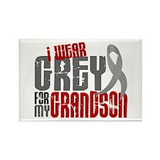 I Wear Grey For My Grandson 6 Rectangle Magnet