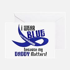 I Wear Blue For My Daddy 33 CC Greeting Card