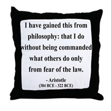 Aristotle 8 Throw Pillow