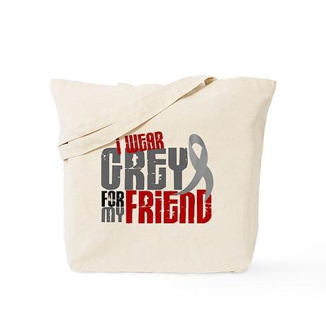 I Wear Grey For My Friend 6 Tote Bag