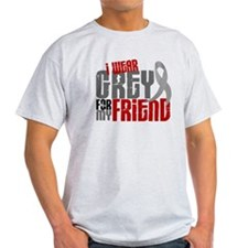 I Wear Grey For My Friend 6 T-Shirt