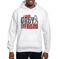 I Wear Grey For My Friend 6 Jumper Hoody