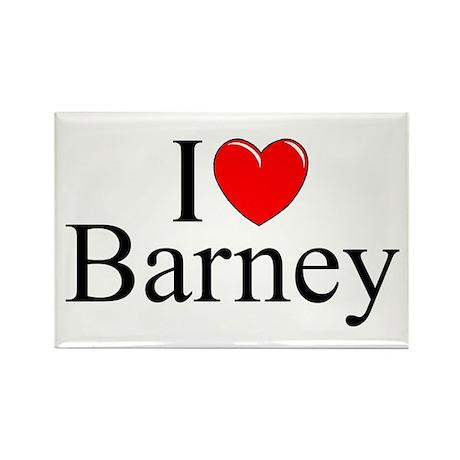 """""""I Love (Heart) Barney"""" Rectangle Magnet"""