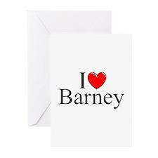"""I Love (Heart) Barney"" Greeting Cards (Pk of 10)"