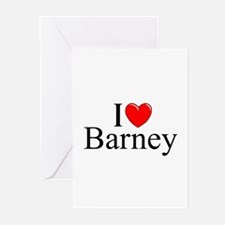 """I Love (Heart) Barney"" Greeting Cards (Pk of 10)"