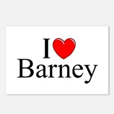 """""""I Love (Heart) Barney"""" Postcards (Package of 8)"""
