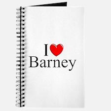 """""""I Love (Heart) Barney"""" Journal"""