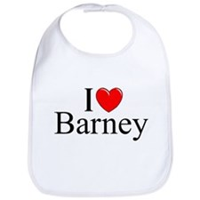 """I Love (Heart) Barney"" Bib"