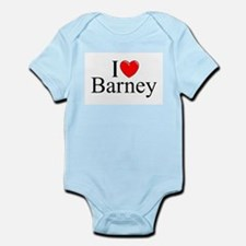 """I Love (Heart) Barney"" Infant Bodysuit"