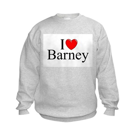 """I Love (Heart) Barney"" Kids Sweatshirt"