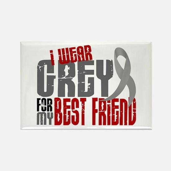 I Wear Grey For My Best Friend 6 Rectangle Magnet