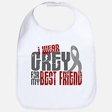 I Wear Grey For My Best Friend 6 Bib