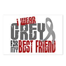 I Wear Grey For My Best Friend 6 Postcards (Packag
