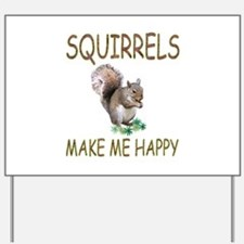 Squirrels Yard Sign