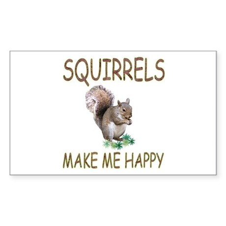Squirrels Rectangle Sticker