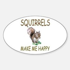 Squirrels Oval Decal