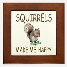 Squirrels Framed Tile